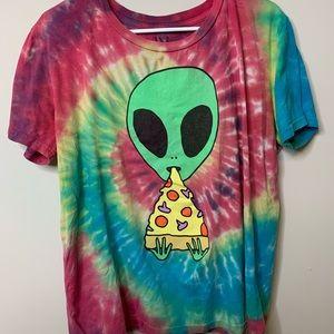 Tie Dye alien tee